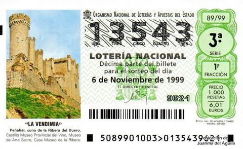 Décimo de Lotería 1999 / 89