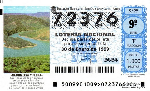 Décimo de Lotería 1999 / 9