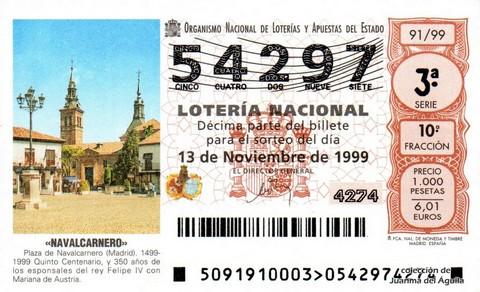 Décimo de Lotería 1999 / 91