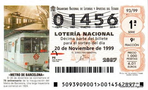 Décimo de Lotería 1999 / 93