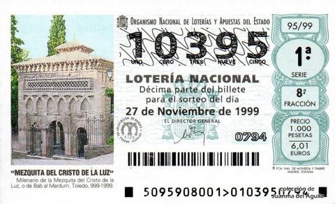 Décimo de Lotería 1999 / 95