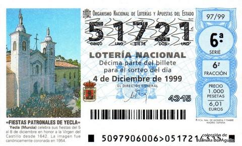 Décimo de Lotería 1999 / 97