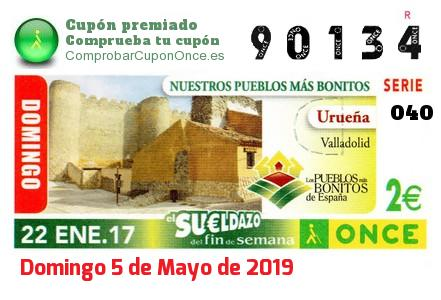 Sueldazo ONCE premiado el Domingo 22/1/2017