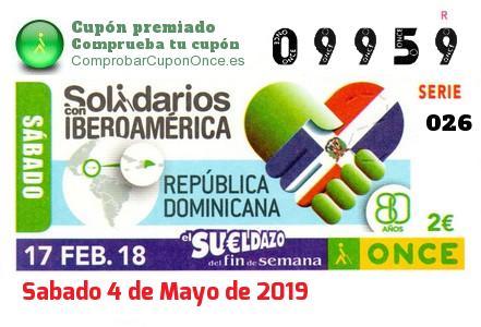Sueldazo ONCE del Sabado 17/2/2018