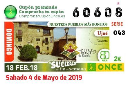 Sueldazo ONCE del Domingo 18/2/2018