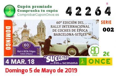 Sueldazo ONCE premiado el Domingo 4/3/2018
