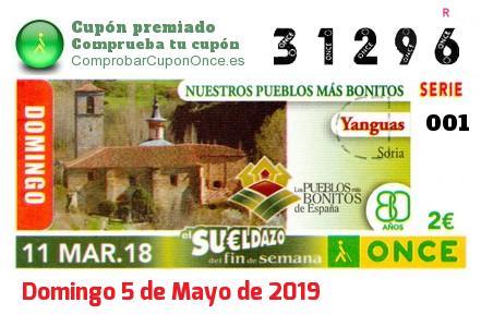 Sueldazo ONCE premiado el Domingo 11/3/2018