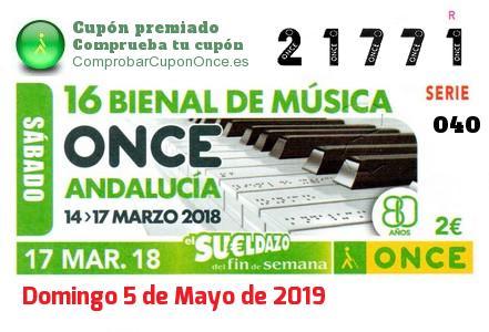 Sueldazo ONCE premiado el Sabado 17/3/2018