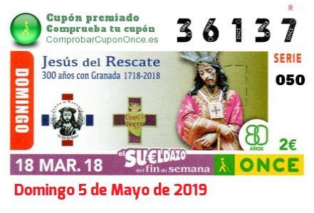 Sueldazo ONCE premiado el Domingo 18/3/2018