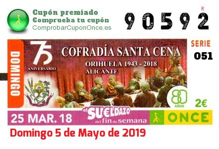 Sueldazo ONCE premiado el Domingo 25/3/2018