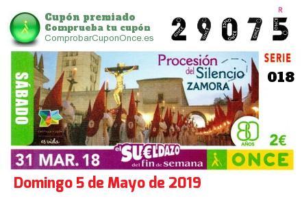 Sueldazo ONCE premiado el Sabado 31/3/2018