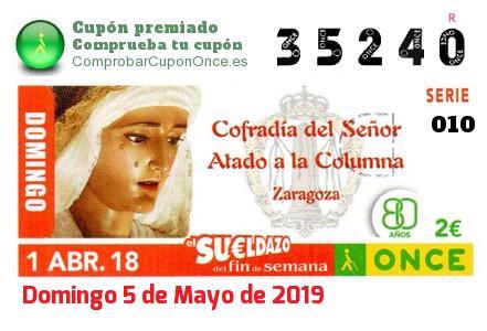 Sueldazo ONCE premiado el Domingo 1/4/2018