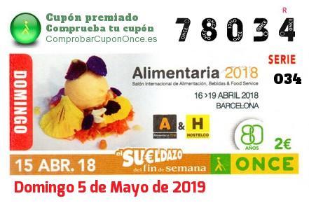 Sueldazo ONCE premiado el Domingo 15/4/2018