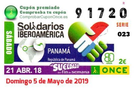 Sueldazo ONCE premiado el Sabado 21/4/2018