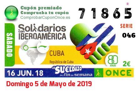 Sueldazo ONCE premiado el Sabado 16/6/2018