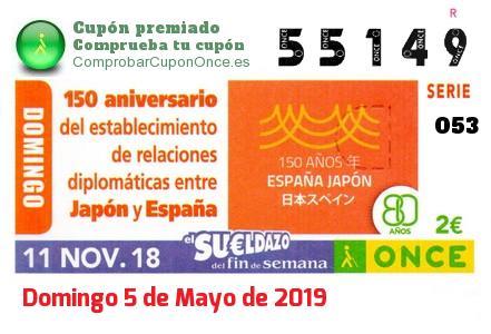 Sueldazo ONCE premiado el Domingo 11/11/2018