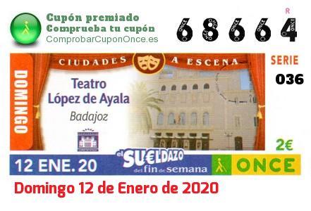 Sueldazo ONCE premiado el Domingo 12/1/2020