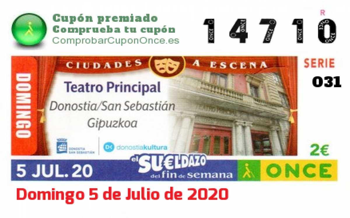 Sueldazo ONCE premiado el Domingo 5/7/2020