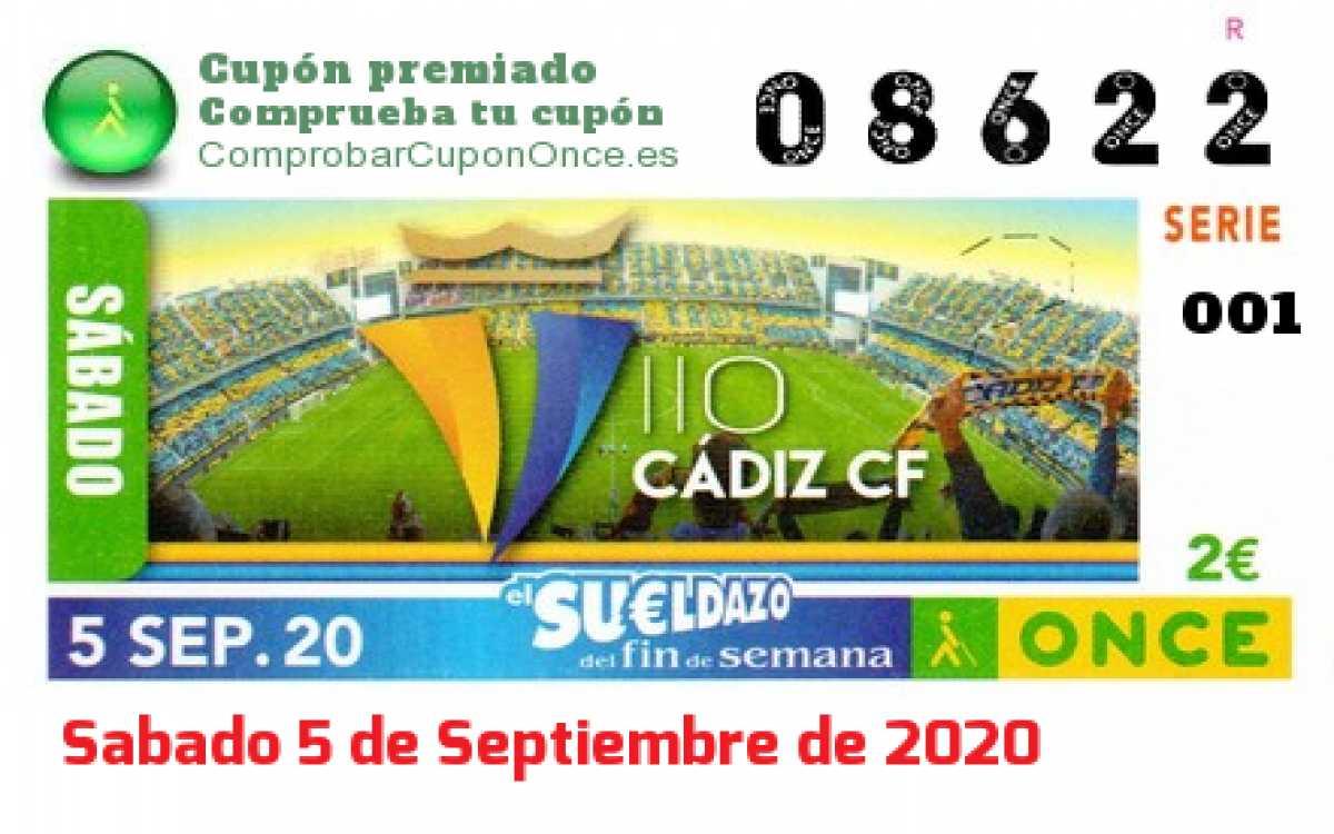 Sueldazo ONCE premiado el Sabado 5/9/2020