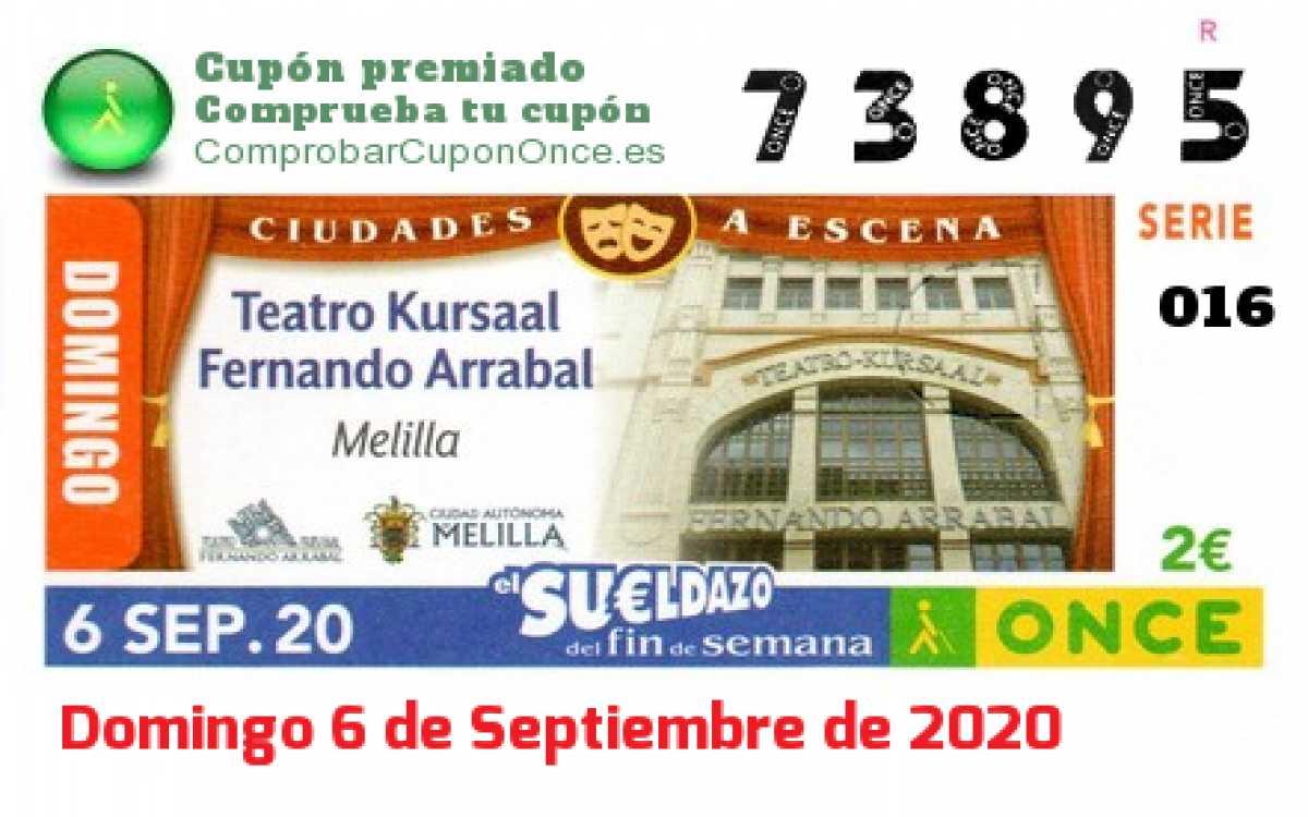 Sueldazo ONCE premiado el Domingo 6/9/2020