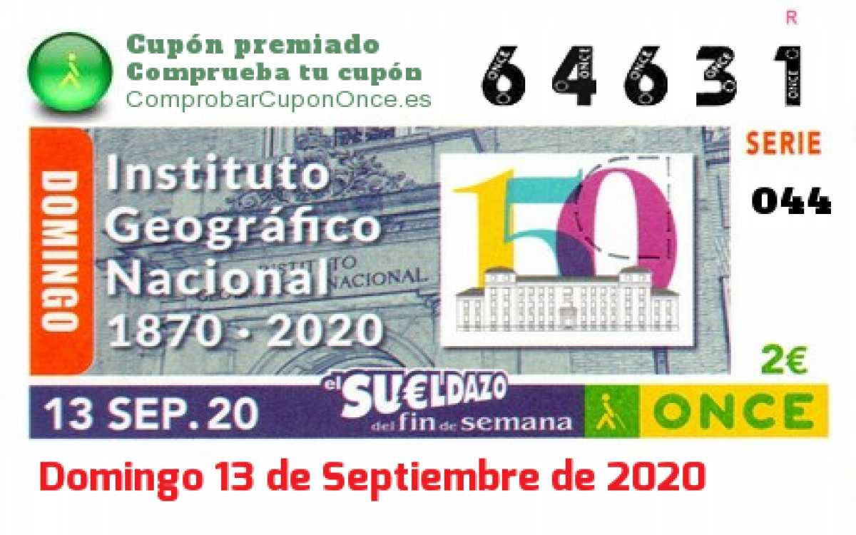 Sueldazo ONCE premiado el Domingo 13/9/2020