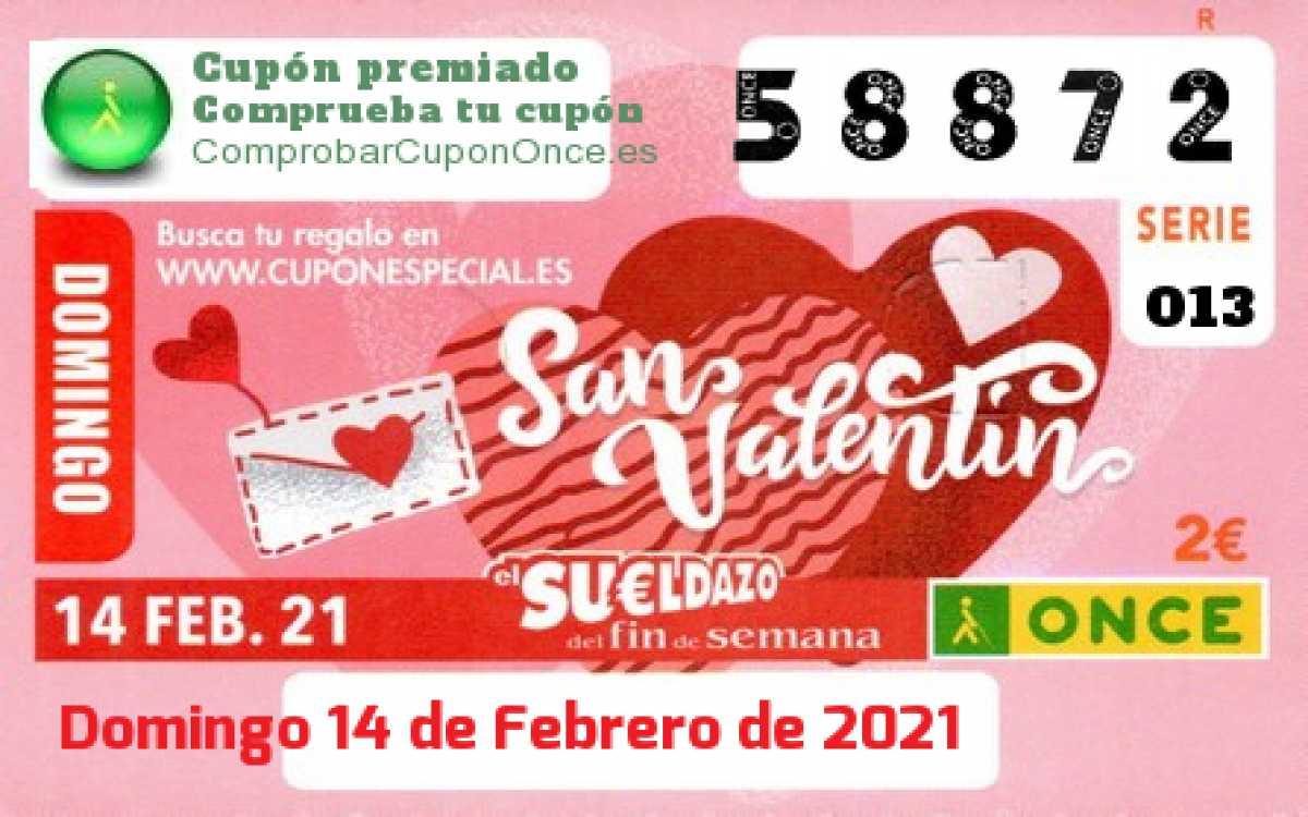 Sueldazo ONCE premiado el Domingo 14/2/2021