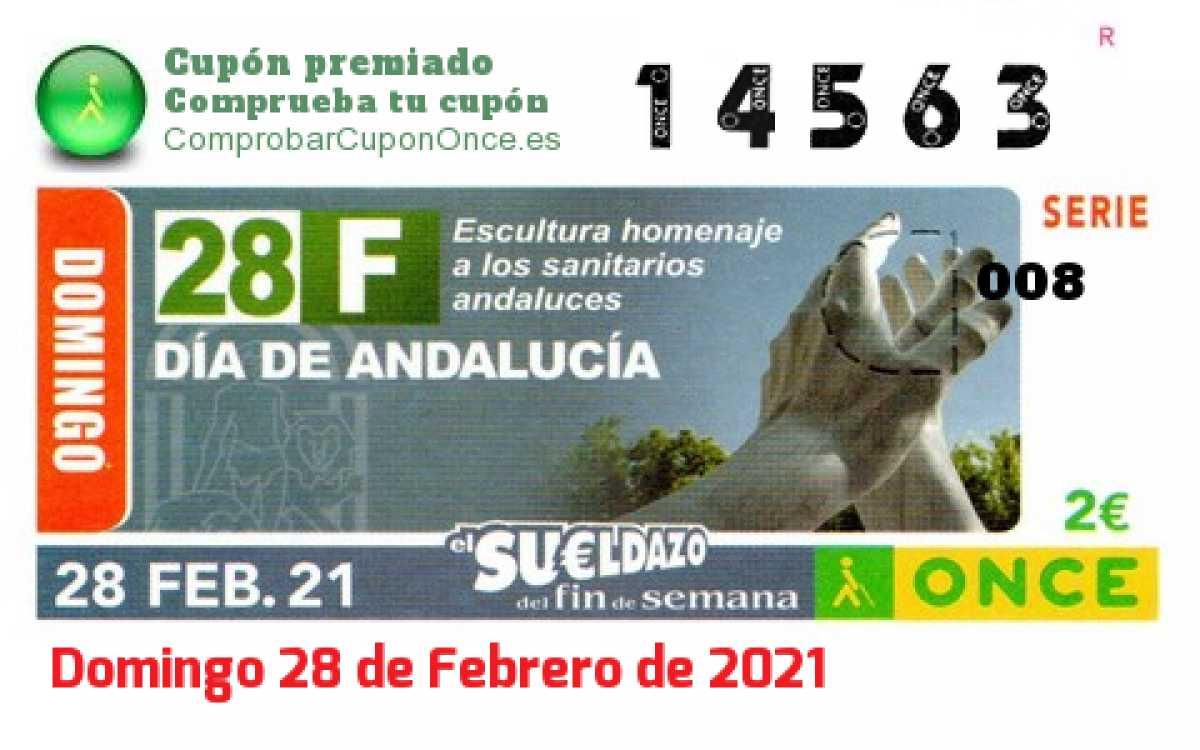 Sueldazo ONCE premiado el Domingo 28/2/2021