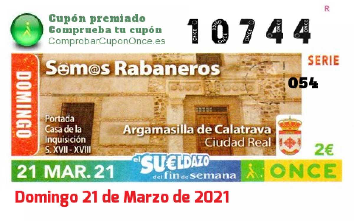 Sueldazo ONCE premiado el Domingo 21/3/2021