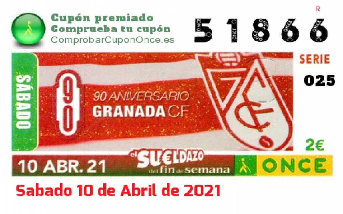 Sueldazo ONCE premiado el Sabado 10/4/2021