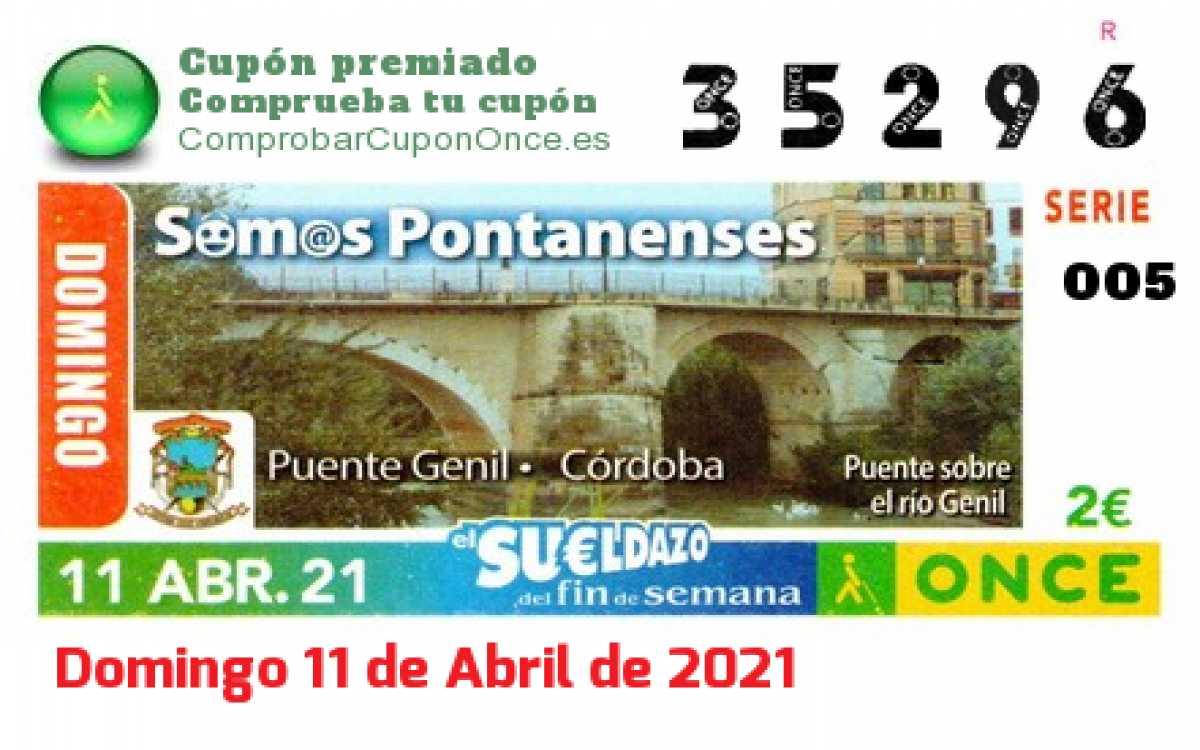Sueldazo ONCE premiado el Domingo 11/4/2021