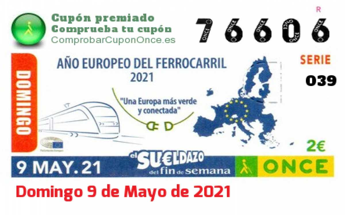 Sueldazo ONCE premiado el Domingo 9/5/2021