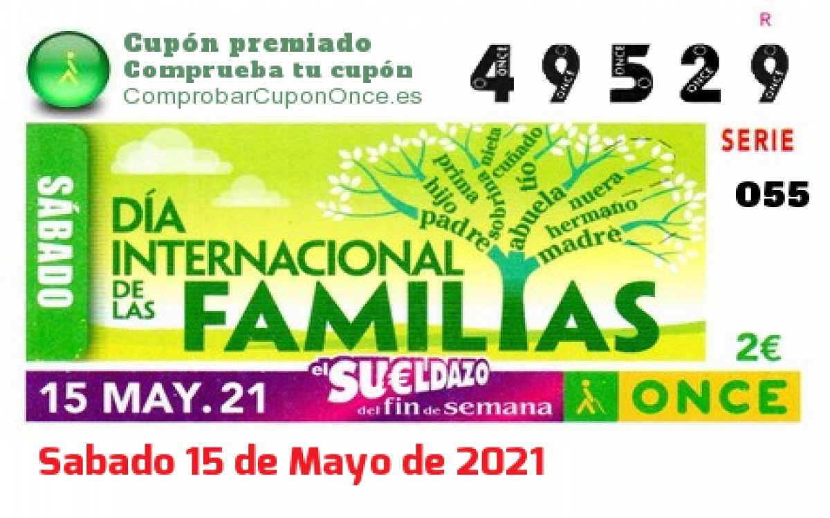 Sueldazo ONCE premiado el Sabado 15/5/2021