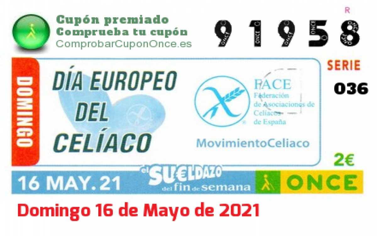 Sueldazo ONCE premiado el Domingo 16/5/2021