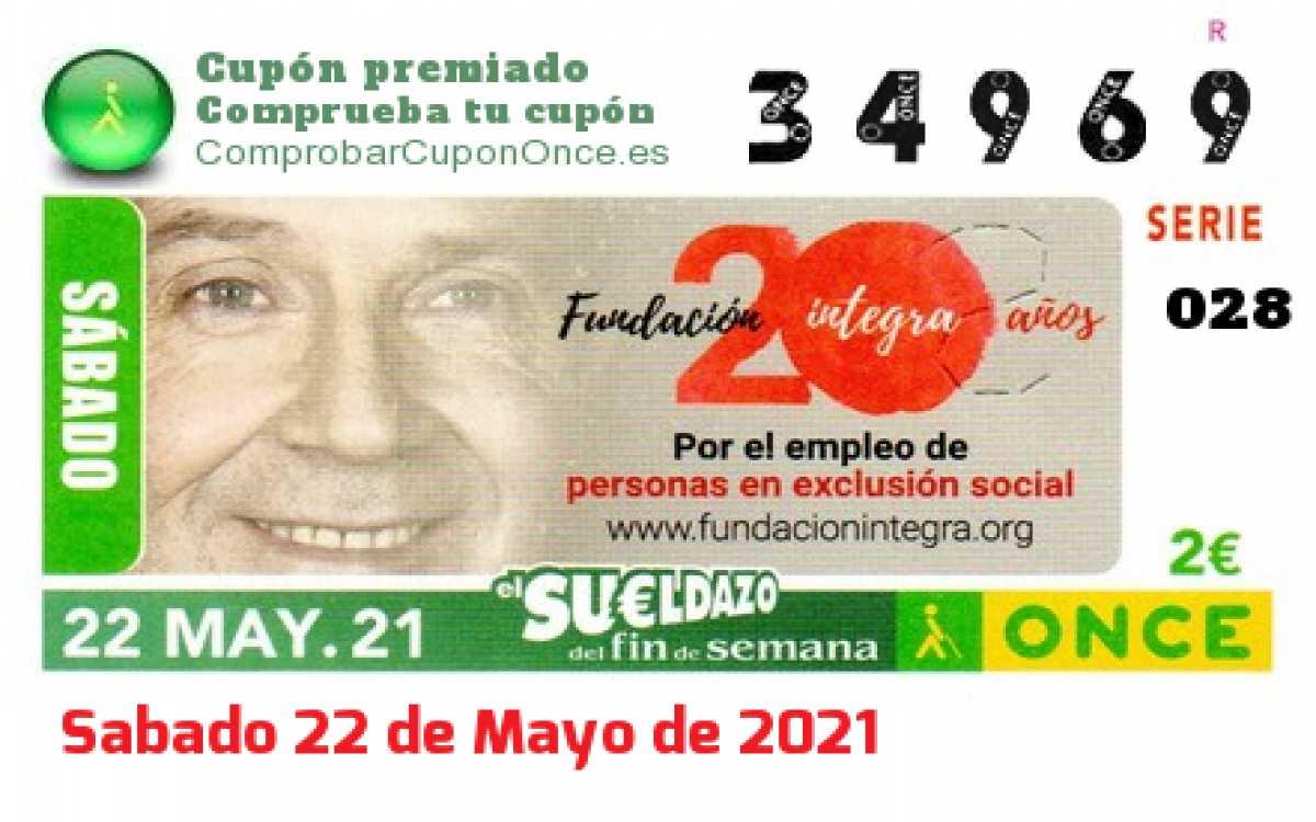 Sueldazo ONCE premiado el Sabado 22/5/2021