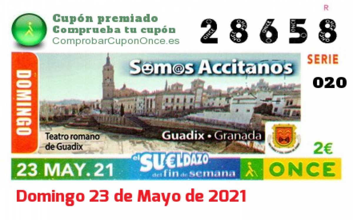 Sueldazo ONCE premiado el Domingo 23/5/2021
