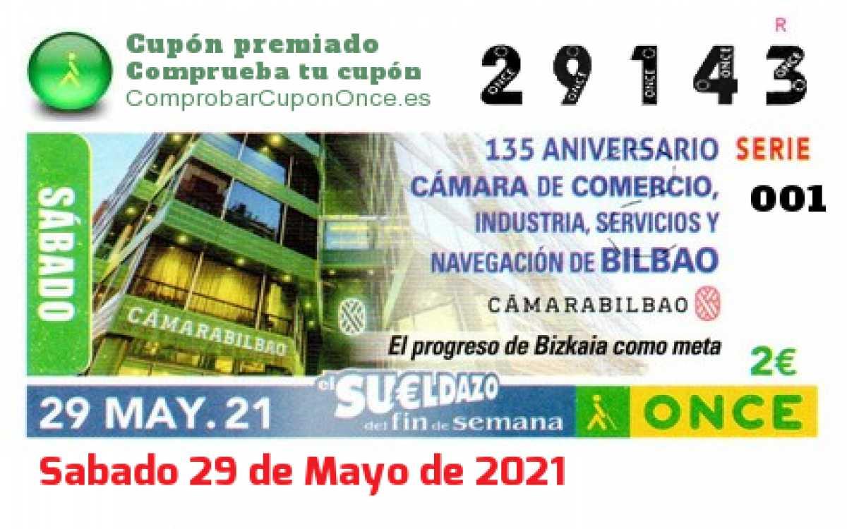 Sueldazo ONCE premiado el Sabado 29/5/2021