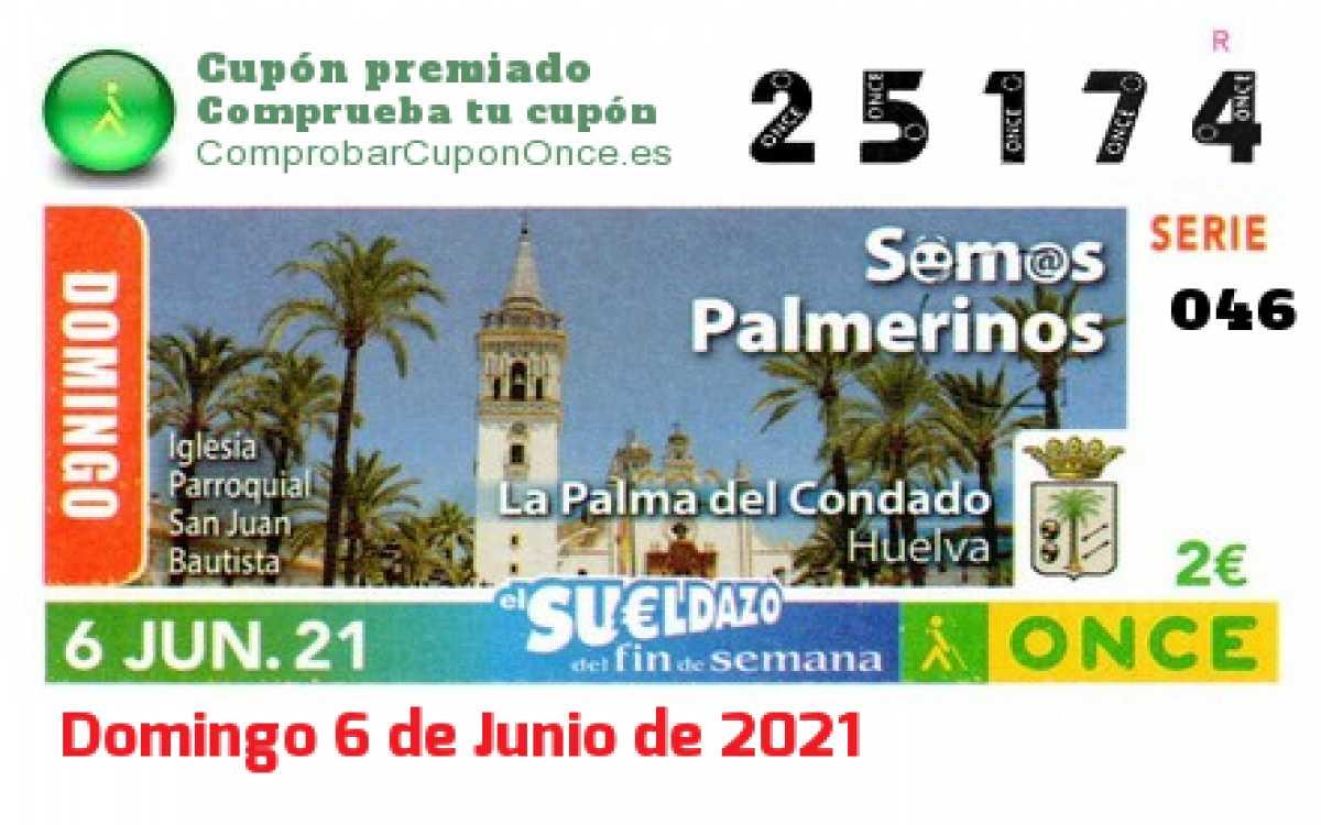 Sueldazo ONCE premiado el Domingo 6/6/2021