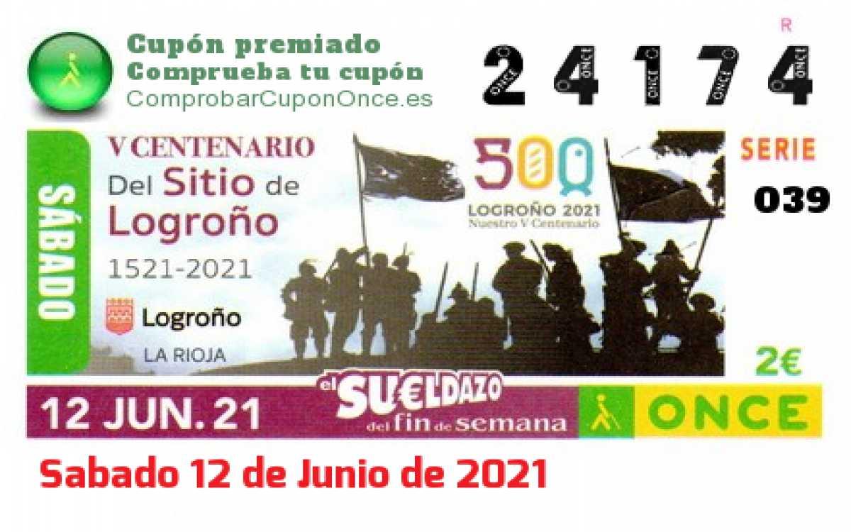 Sueldazo ONCE premiado el Sabado 12/6/2021