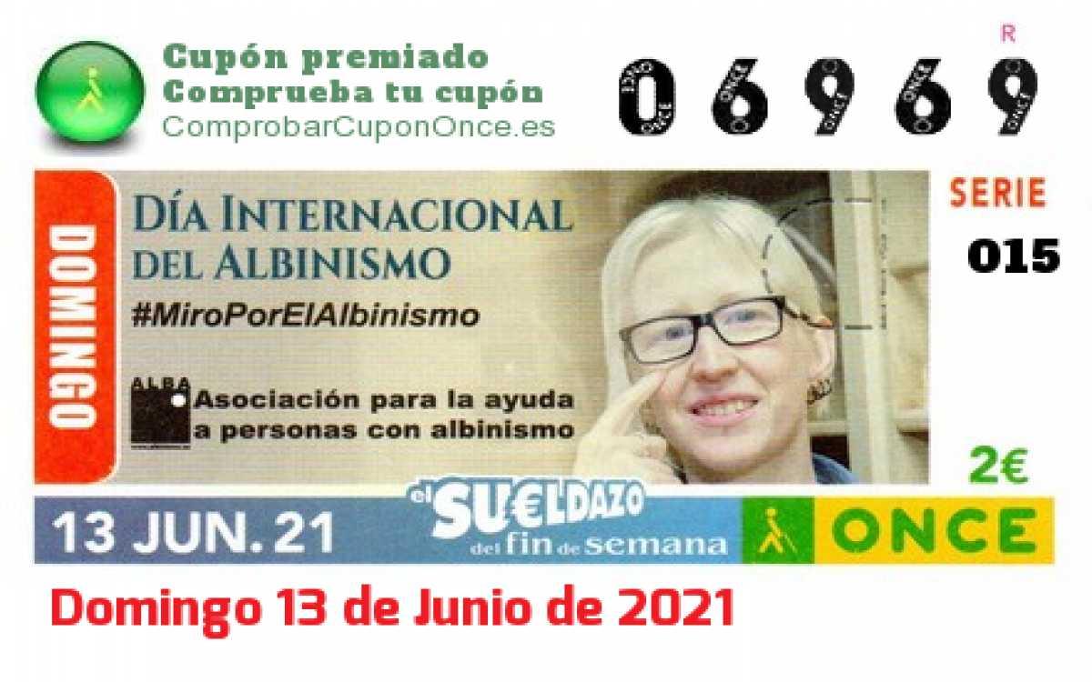 Sueldazo ONCE premiado el Domingo 13/6/2021