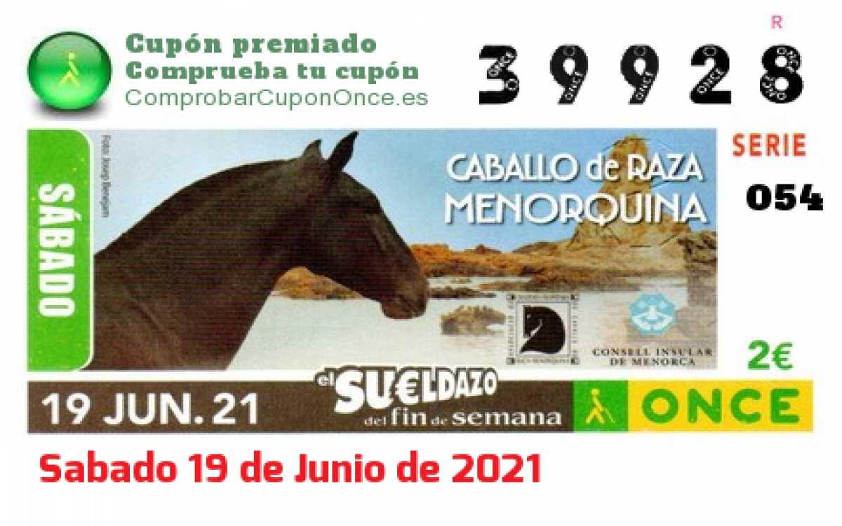 Sueldazo ONCE premiado el Sabado 19/6/2021