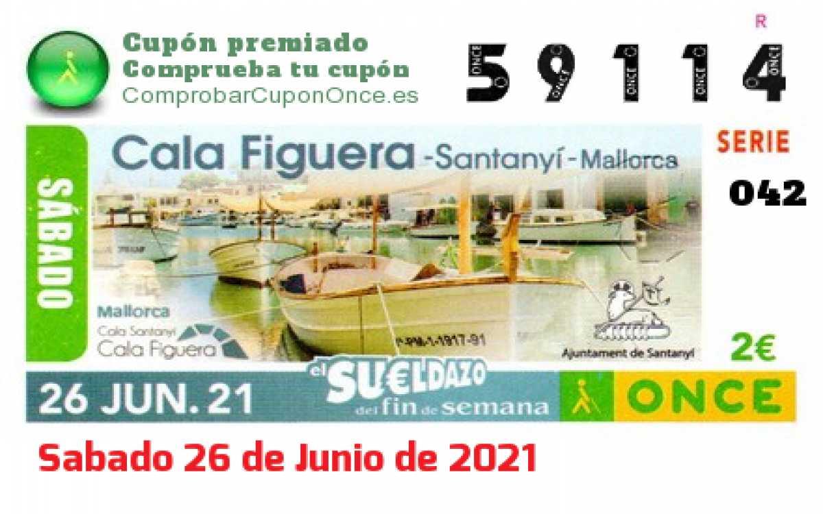 Sueldazo ONCE premiado el Sabado 26/6/2021
