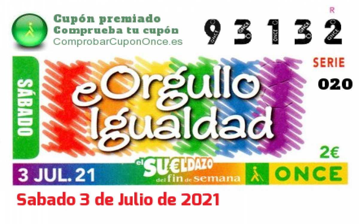 Sueldazo ONCE premiado el Sabado 3/7/2021
