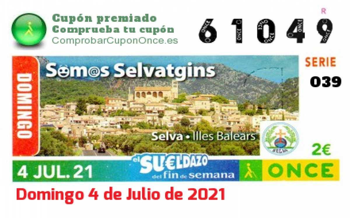 Sueldazo ONCE premiado el Domingo 4/7/2021