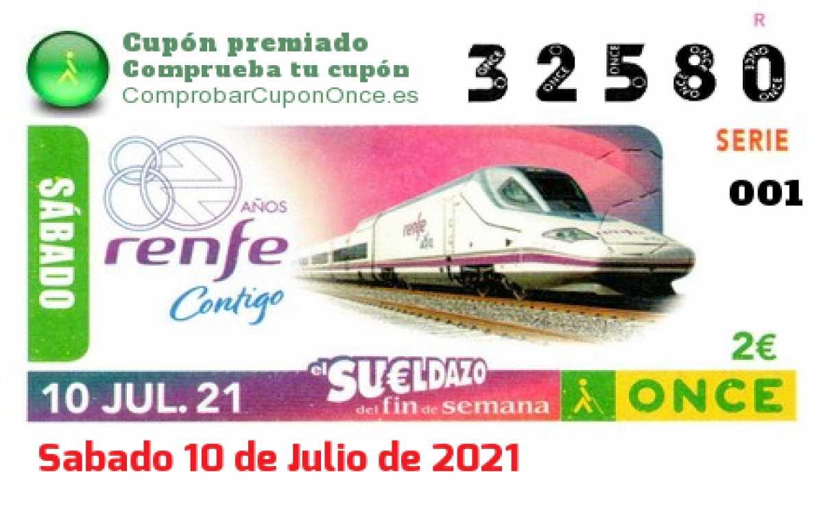 Sueldazo ONCE premiado el Sabado 10/7/2021
