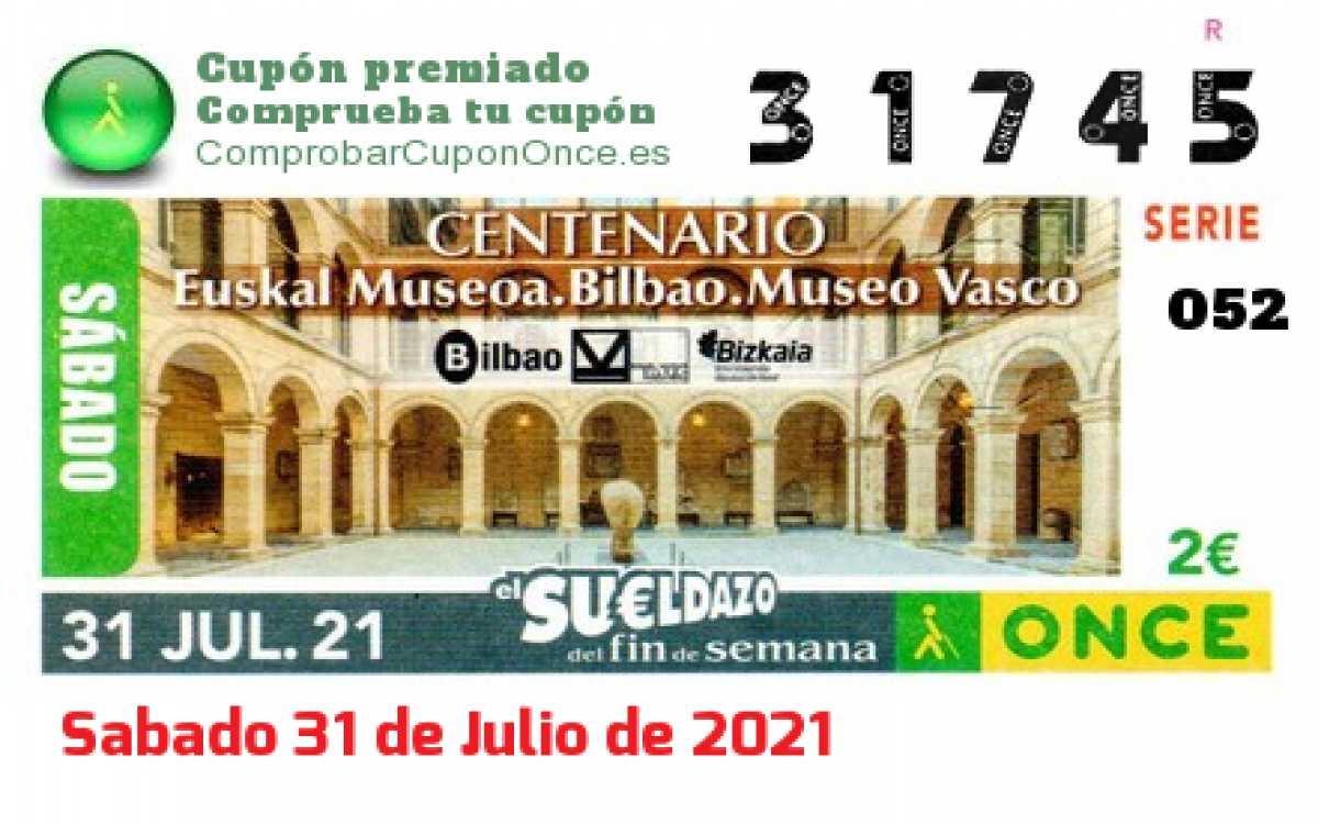 Sueldazo ONCE premiado el Sabado 31/7/2021