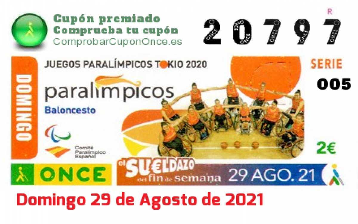 Sueldazo ONCE premiado el Domingo 29/8/2021