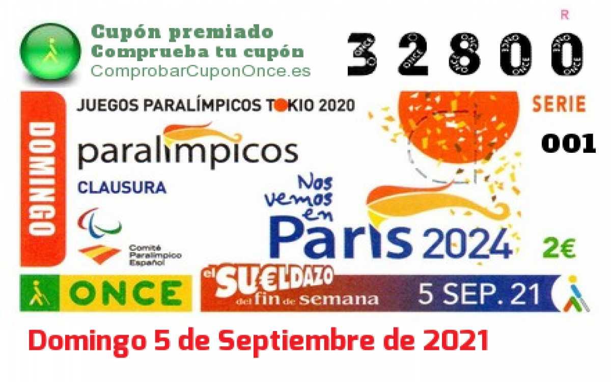 Sueldazo ONCE premiado el Domingo 5/9/2021