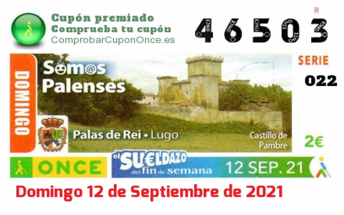Sueldazo ONCE premiado el Domingo 12/9/2021