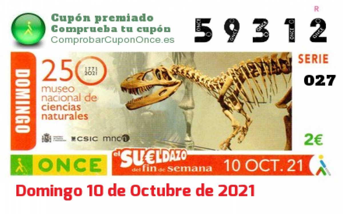 Sueldazo ONCE premiado el Domingo 10/10/2021