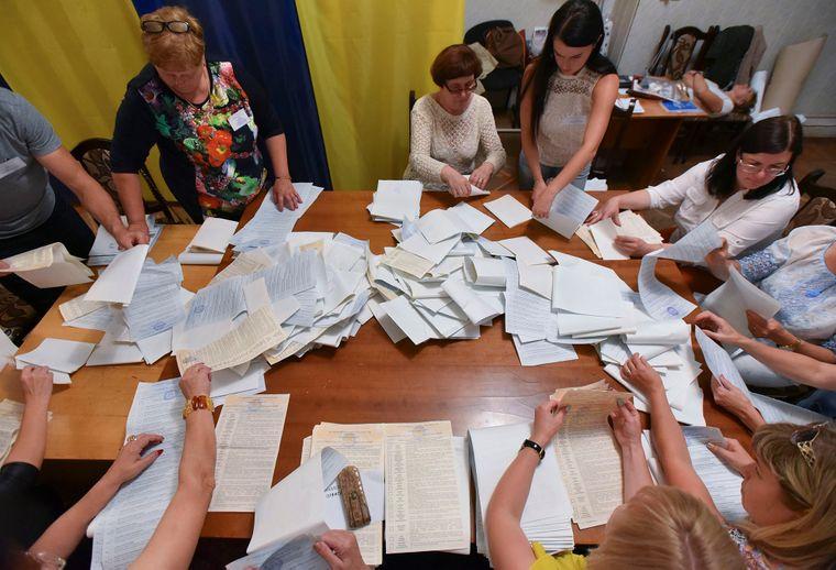 Процес підрахунку голосів на виборах до українського парламенту, Львів, 21 липня 2019 року